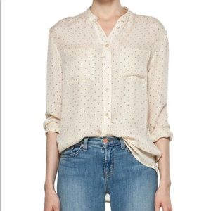 Equipment Bailey Pinpoint Blouse Tapioca Small